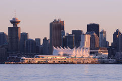 Downtown Vancouver at sunset Stock Photos