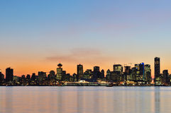 Downtown vancouver at sunset Stock Photography