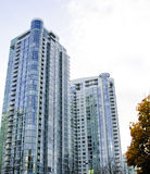 Downtown Vancouver Towers. In the autumn on a sunny day Stock Photography