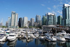 Downtown Vancouver Waterfront. In British Columbia, Canada stock photo