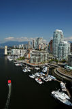 Downtown Vancouver Waterfront, BC, Canada Royalty Free Stock Photography