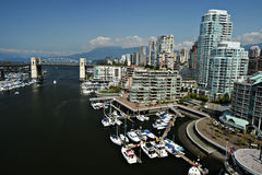 Downtown Vancouver Waterfront, BC, Canada Royalty Free Stock Images
