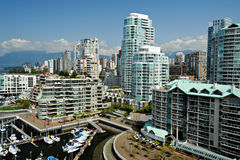 Downtown Vancouver Waterfront, BC, Canada Stock Image