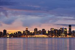 Downtown Vancouver Winter Sunset Royalty Free Stock Image