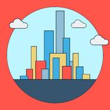 Downtown vector illustration Royalty Free Stock Photography