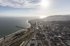 Downtown Ventura Aerial Southern California Stock Photography