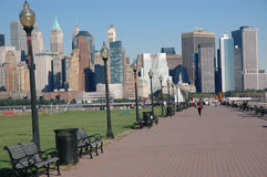 Downtown view. Taken from Liberty State Park overlooking hudson harbor and downtown manhattan Royalty Free Stock Image