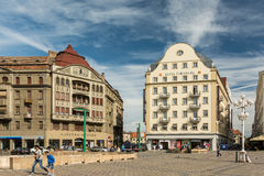 Downtown View Of The Historical Center Of Timisoara City Stock Photography