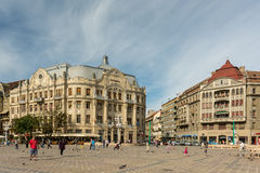 Downtown View Of The Historical Center Of Timisoara City Stock Photos