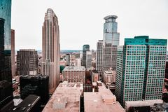 Stunning views of downtown Minneapolis royalty free stock images