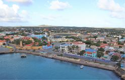 Kralendijk, Bonaire - 12/16/17 - Downtown views of the town of Kralendijk, Bonaire. Downtown views of the town of Kralendijk, Bonaire stock photos