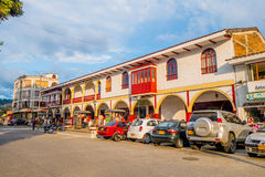 Downtown Villamaria town in Colombia Stock Image