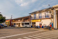 Downtown Villamaria town in Colombia Royalty Free Stock Photos