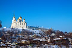 Downtown of  Vladimir city in winter Stock Photo