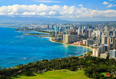 Downtown Waikiki, Oahu, Hawaii Stock Photos