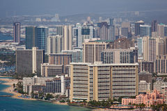 Downtown Waikiki seen from Diamond Head Stock Photography