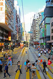 Downtown wanchai, hong kong Stock Photography