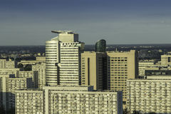 Downtown of Warsaw aerial view Royalty Free Stock Images