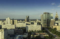 Downtown of Warsaw aerial view Royalty Free Stock Photography