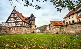 The downtown of Wasungen in Thuringia Germany. On October 27, 2018 royalty free stock images
