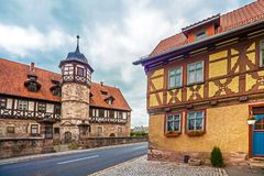 The downtown of Wasungen in Thuringia Germany. On October 27, 2018 royalty free stock photography