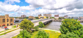 Downtown of Waterloo Iowa Stock Photos
