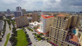 Downtown West Palm Beach stock footage