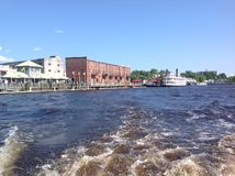Downtown Wilmington from the river Stock Image
