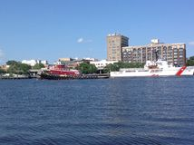 Downtown Wilmington from the river Royalty Free Stock Photo