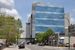 Downtown of Winnipeg City Royalty Free Stock Images