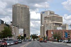 Downtown of Winnipeg City Stock Photo