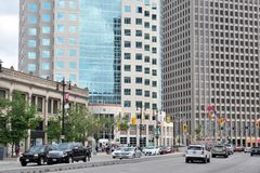 Downtown of Winnipeg City Royalty Free Stock Image