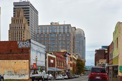 Downtown Winston-Salem, North Carolina royalty free stock photos