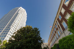Downtown Winston-Salem. From 1st Street and Main Royalty Free Stock Photography