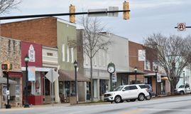 Downtown Woodruff SC USA is pictured royalty free stock photo