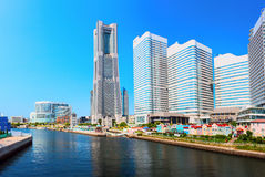 Downtown of Yokohama City. It is the capital city of Kanagawa Prefecture. It lies on Tokyo Bay, south of Tokyo. Royalty Free Stock Photography