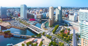 Downtown of Yokohama City. It is the capital city of Kanagawa Prefecture. It lies on Tokyo Bay, south of Tokyo, in the Kanto regi Stock Photo