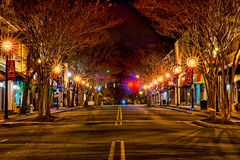 Downtown york south carolina the white rose city at christmas ti royalty free stock photo