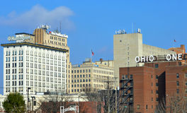 Downtown Youngstown Ohio. A view of downtown Youngstown Ohio on clear & sunny afternoon with a bright blue sky Stock Photo