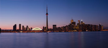 Downtowntoronto panorama. Pride week, Downtown Toronto view from Central Island Stock Photos