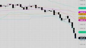 downtrend Financeiro, falha, crise econômica Queda conservada em estoque da carta Imagem de Stock Royalty Free
