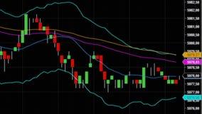 downtrend Financeiro, falha, crise econômica Queda conservada em estoque da carta Foto de Stock