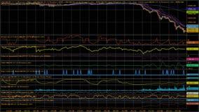 downtrend Financieel, mislukking, economische crisis De daling van de voorraadgrafiek stock foto