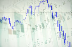 Downtrend stock chart Royalty Free Stock Images