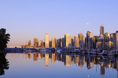 Downtwon vancouver at sunset Stock Photography