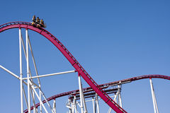 Downward Roller Coaster Car Fun  Royalty Free Stock Photography