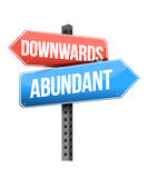 Downward and abundant road sign Stock Photography