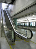 Metro station escalators Royalty Free Stock Photo