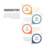 Downward Point Infographic Stock Photos
