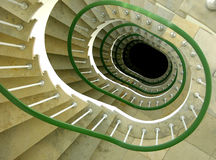 Downward spiral Stock Photo